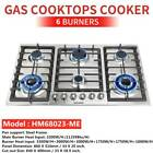 "23"" 30"" 34"" 4/5/6 Burners Built-In Stove Cooktops NG/LPG Gas Hobs Silver Black photo"
