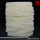 ABS Round Pearl Beads Rope DIY Craft Supplies Jewelry Decoration Wedding Dres EH