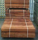 NEW TREATED TIMBER GARDEN RAILWAY SLEEPERS 200X100 1.2M BROWN RAISED BEDS