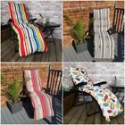 Padded Outdoor Garden Patio Recliner / Sun Lounger with Stripes
