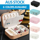 Portable Jewelry Box Organizer Travel Leather Jewellery Ornaments Storage Case