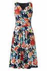 Lands End Women's Petite Fit and Flare Dress Clear Coral Floral New