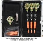 Viper Sure Grip ORANGE 16 or 18 gm Soft Tip Dart Set-Combat Camouflage Flights