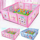 Cartoon Kids Play Pen Fence Playpen Baby Safety Pool Game Toddler Craw 47.2 US