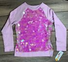 NWT Cat  Jack Girls Flip Long Sleeve Lilac Sequin Pullover XS,S,M,L,XL  A2