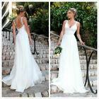 Women's Beach Lace Wedding Dress for Bride Spaghetti Strap Backless Bridal Dress