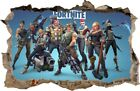 Fortnite Wall Stickers Hole In The Wall  Sticker Vinyl Decor Mural 108