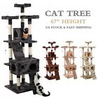 67' Cat Tree Condo Tower w/Scratching Post Pet Kitty Play Climbing Furniture