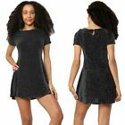 Ladies Dress Glitter Stretchy Line Cap Sleeve Party Cocktail Sexy Club Mini Top