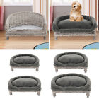 Natural Wicker Cat Dog Sofa Couch Pets Cushion Blanket Beds Cushion Optional NEW