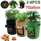 7 Gallon Garden Planting Grow Bag Flower Potato Fabric Planting Pot Container US