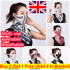 Ladies Bandana Face Mouth Cover Mask Hearts Chiffon Scarf Breathable Protective