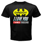 DADDY Dad I Love You 3000 BatDad Super Hero Father's Day Men's Tee Black T-shirt
