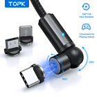 Topk 3 IN 1 Magnetic Cable 360° Rotation USB Cable for iPhoen Micro USB Type C