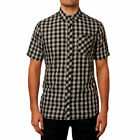Fox Racing Men's Troubled Mind Plaid Short Sleeve Buttondown Shirts Black Gray