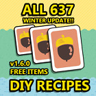 ONLINE NOW Animal Corssing COMPLETE ALL DIY Recipes cards Full 610 595
