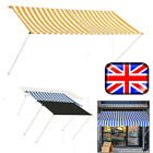 Retractable Awning Sun Protection Canopy Porch Patio Garden Sun Shade Shelter UK
