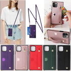 Women Cross-body Wallet Card Slot Strap Pu Leather Stand Lanyard Back Case Cover