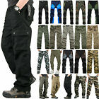 Mens Outdoor Cargo Walking Cargo Work Combat Trousers Military Army Casual Pants