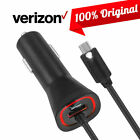 OEM Verizon Logo Fast Car Charger for Samsung Galaxy S20/S10/S9/S8/S7/S6/S4/S3