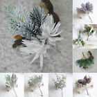 Artificial Fake Flowers Pine Nuts Foliage Plant Leaves Branch Home Decoration