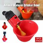 5Pcs/Pack Animal Waterer Drinker Bowl Chicken Birds Pigeon Farm Feeding Tool