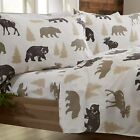 Great Bay Home 4-Piece Lodge Printed Ultra-Soft Microfiber Sheet Set. Beautiful