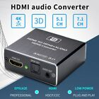 AU HDMI to 4K HDMI SPDIF 3.5mm Audio Video Converter Extractor Splitter Adapter