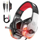 Wired Stereo Bass Surround Gaming Headset 3.5mm with Mic for PS5 New Xbox One PC