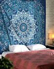 RAJRANG BRINGING RAJASTHAN TO YOU Blue Psychedelic Star Tapestry - Hippie Mandal