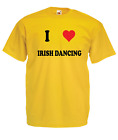 I LOVE DANCING Xmas Gift Idea Mens Women T SHIRTS TOP Multi-Color Size S-2XL