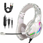 Gaming Headset with Mic Stereo Gamer Bass Surround Headphone For PS5 Xbox One PC