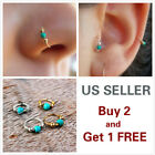 1 Pair Vintage Style Ear Cuff Wrap Earrings Boho Turquoise A