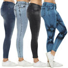 Womens Super Skinny Jeans Stretchy Denim Ladies High Waisted Pencil Fit Pants