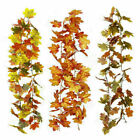 180cm Artificial Autumn Fall Maple Leaves Garland Hanging Plant Home Decor C