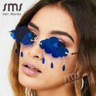 Women Fashion Clouds Rimless Sunglasses Vintage Tassel Steampunk Frameless Shade