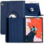 """For Apple iPad Pro 12.9"""" 11"""" 2020 2018 Leather Rugged Stand Rotating Case Cover"""