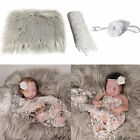 3Pcs/Set Newborn Baby Blanket Swaddle Wrap Sheer Headband Photo Props Exquisite