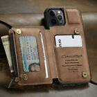 Внешний вид - FOR iPhone 12/11 Pro Max Leather Wallet with Zipper Magnet Flip Cover Card Case