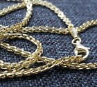Mens Womens 10K Real Yellow Gold 1.5mm-2mm FRANCO Link Chain Necklace 16'-30'