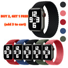 Kyпить Braided Solo Loop Silicone Strap Band For iWatch Series 6 SE 5 4 3 2 42/40/44MM на еВаy.соm