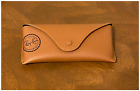 Ray Ban Brown Black Leather Case For Aviator Sunglasses Travel Carrying