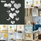 3d Mirror Wall Sticker Removable Art Mural Decal Dining Room Home Decorations