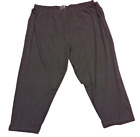 Mens KingSize King Size Big & Tall Black Lounge Pants w/ 2 Side Pockets