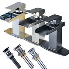 Waterfall Bathroom Faucet Single Handle Bath Sink Faucet Mixer Tap 6
