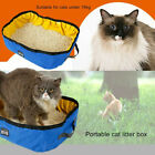 Cat Litter Box Folding Bathroom Collapsible Toilet Bedpan Cleaning Oxford Cloth