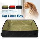 Easy Clean Waterproof Travel Pan Tray Collapsible Cat Little Box Folding Outdoor