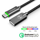 Smart LED Auto Disconnect Samsung S8 S8+ Note 8 Fast Charger USB Type-C Cable