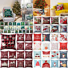 "18"" Christmas Xmas Cushion Cover Case Pillow Home Sofa Throw Decor"