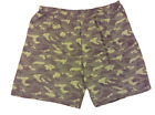 Mens KingSize King Size B&T Green Camo Lounge Shorts w/ 2 Side Pockets
